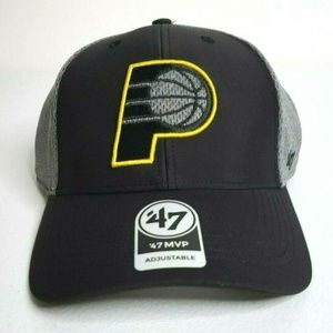 Indiana Pacers Black and Gray Adjustable Hat OSFA